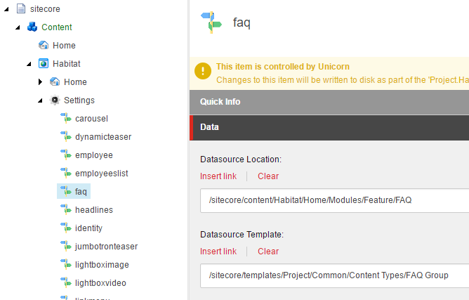 2 6 3  Datasource settings — Sitecore Helix 1 1 documentation